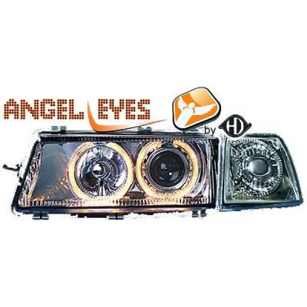 angel eyes koplampen opel vectra a 1988 1995 chroom 1823280. Black Bedroom Furniture Sets. Home Design Ideas