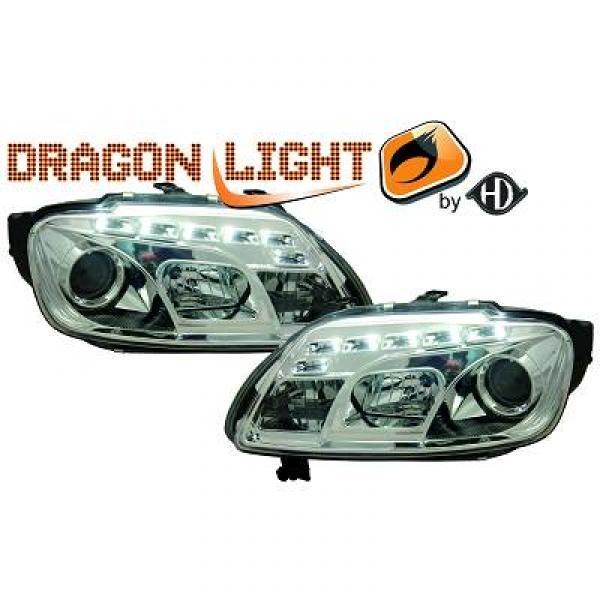koplampen met led verlichting volkswagen touran caddy 2003 2006 chroom 2295285. Black Bedroom Furniture Sets. Home Design Ideas