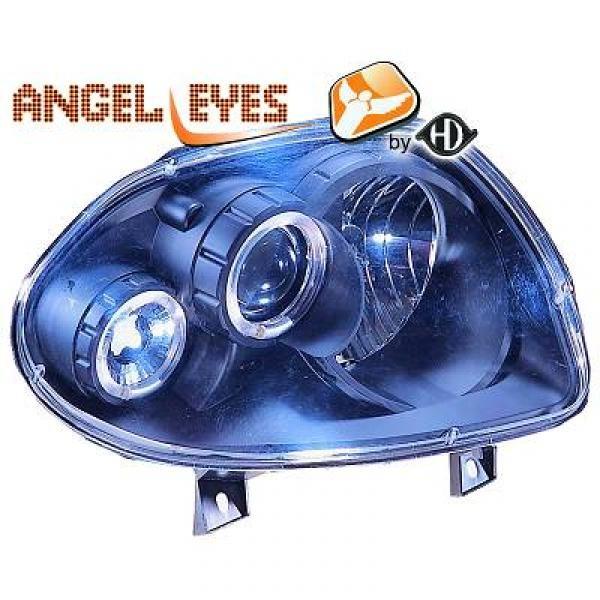 angel eyes koplampen renault clio 2 1998 2001 zwart 4413580. Black Bedroom Furniture Sets. Home Design Ideas