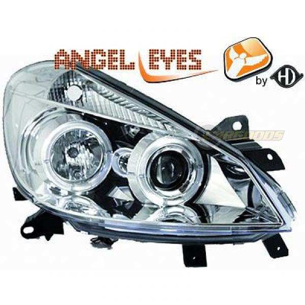 angel eyes koplampen renault clio 3 vanaf 2005 chroom 4414880. Black Bedroom Furniture Sets. Home Design Ideas