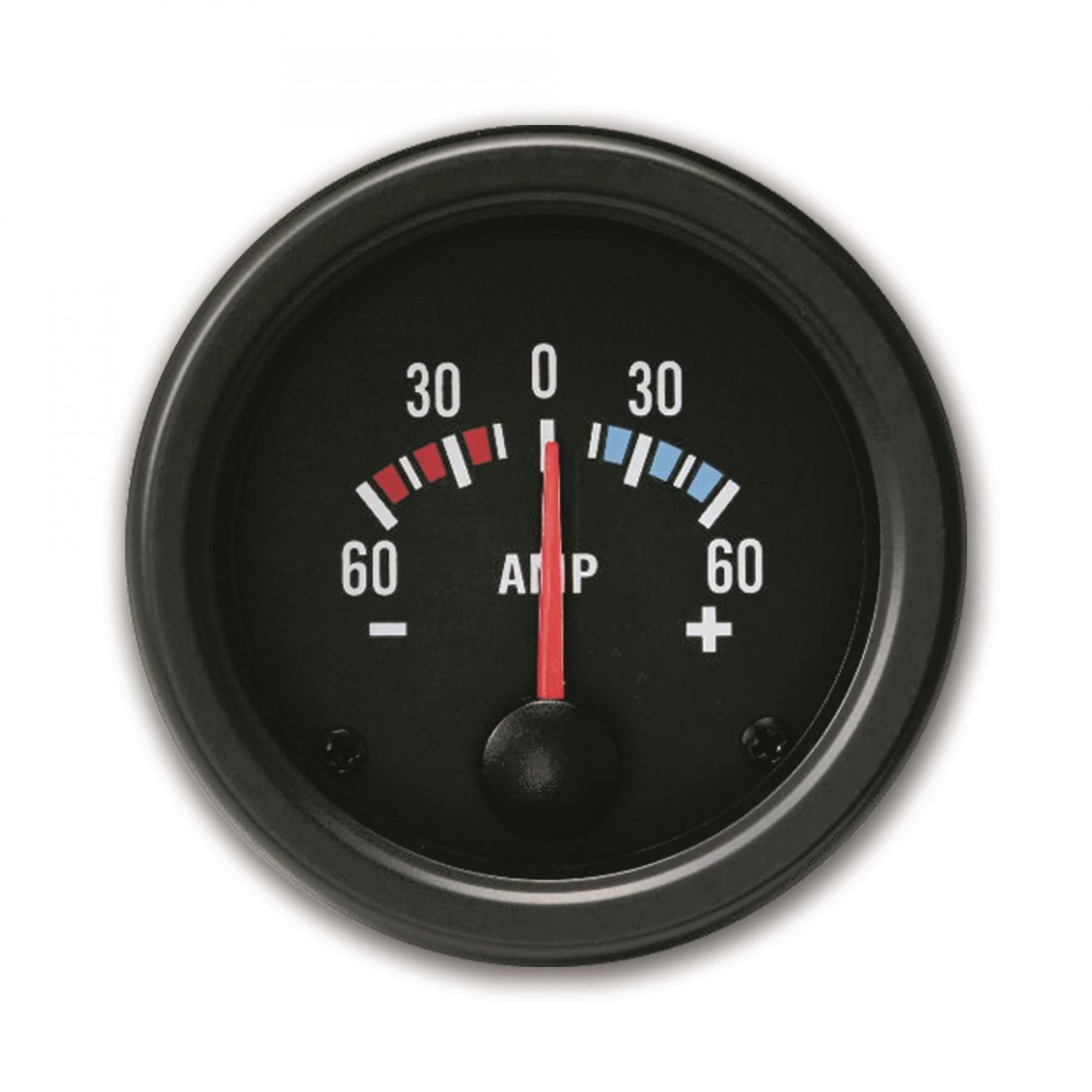 Amperemeter 60a Youngtimer Black Jom 21117v