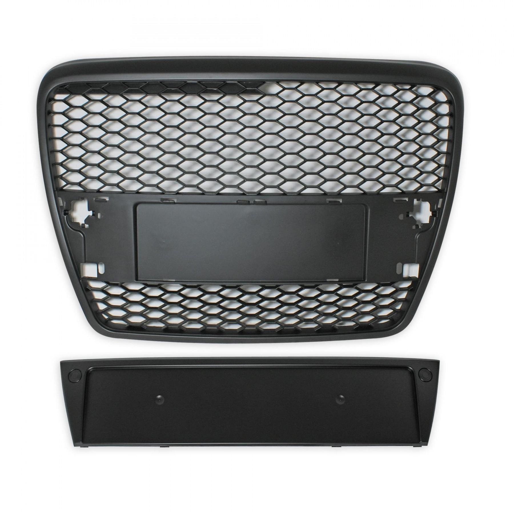 grill audi a6 4f 05 07 zwart jom 4f0853653moe. Black Bedroom Furniture Sets. Home Design Ideas