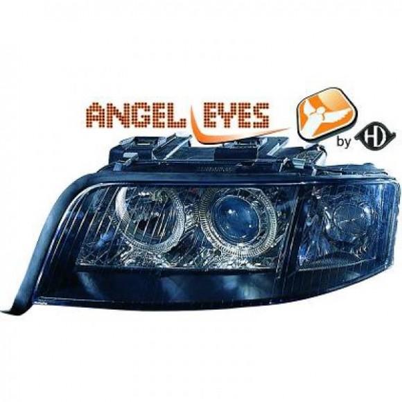 Angel eyes koplampen Audi A6 C5 - Zwart
