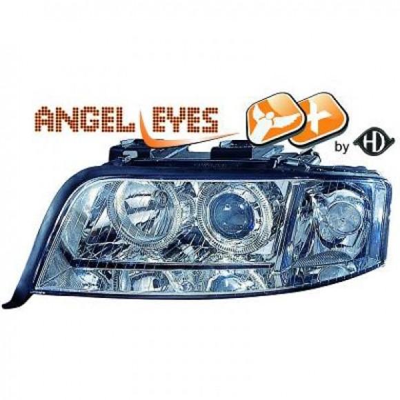 Xenon Angel eyes koplampen Audi A6 C6-C7 - Chroom