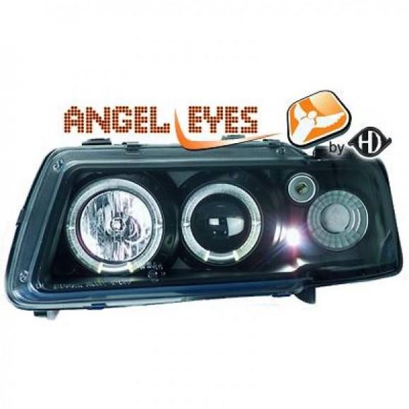 Angel eyes koplampen Audi A3 8L - Zwart