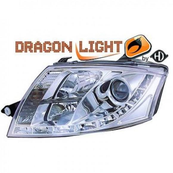 Koplampen met LED verlichting Audi TT - Chroom