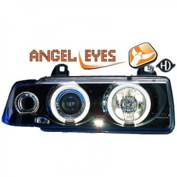 Angel eyes koplampen BMW 3-serie E36 - Zwart