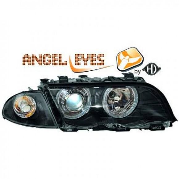 Angel eyes koplampen BMW 3-serie E46 Sedan/Touring - Zwart