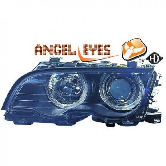 Angel eyes koplampen BMW 3-serie E46 Coupe, Cabrio - Zwart