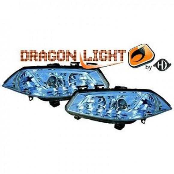 koplampen met led verlichting renault megane chroom