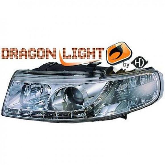 Koplampen met LED verlichting Seat Leon 1M (1999 - 2004) - Chroom ...