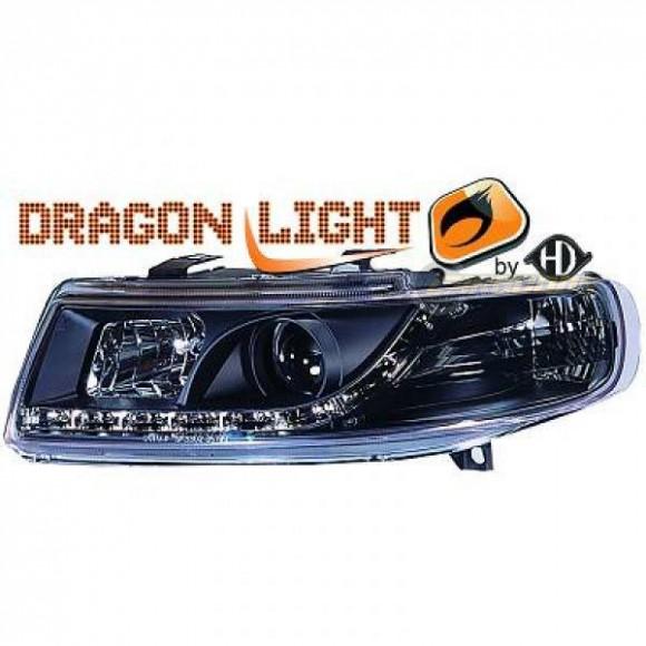 Koplampen met LED verlichting Seat Leon 1M (1999 - 2004) - Zwart ...