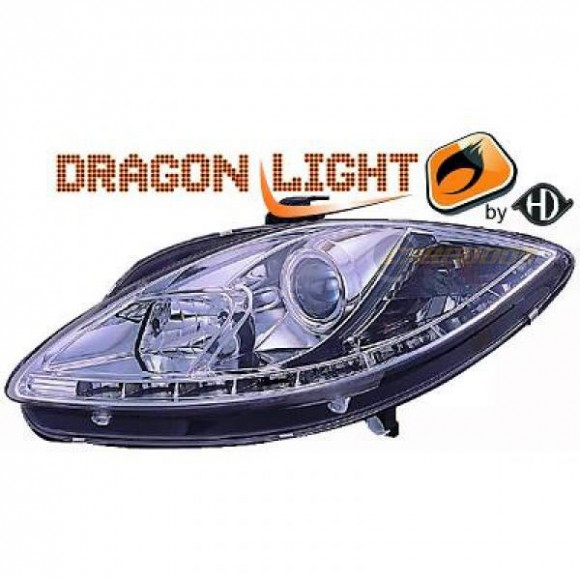 Koplampen met LED verlichting Seat Leon 1P (2004 - 2009) - Chroom ...