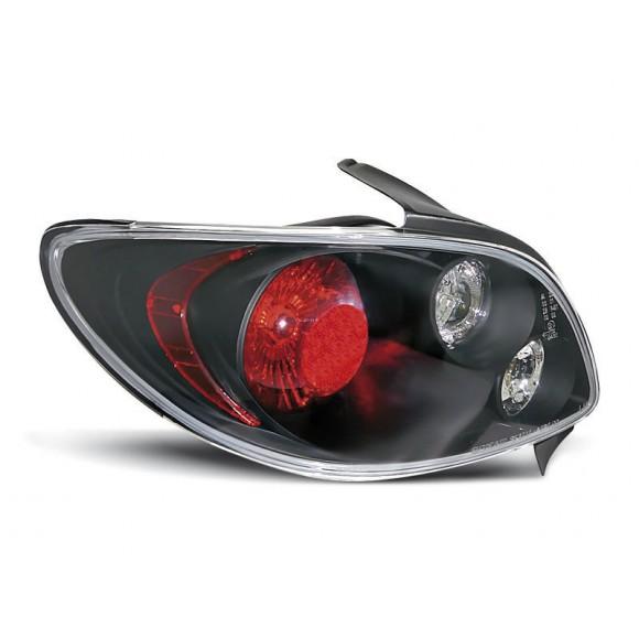Achterlichten PEUGEOT 206 - Zwart | ALPE060