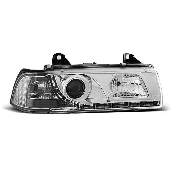 Koplampen met LED verlichting Bmw 3-Serie E36 - Chroom | KLBM510