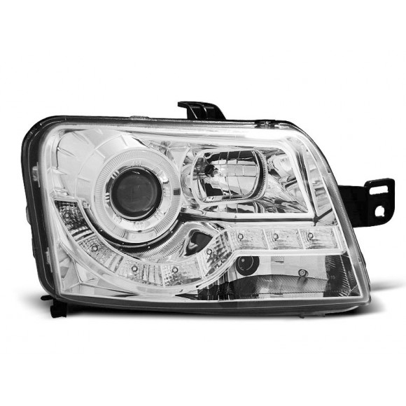 Koplampen met LED verlichting FIAT PANDA - Chroom | KLFI130