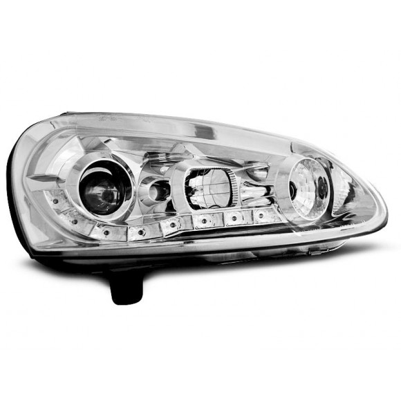 Koplampen met LED verlichting VW GOLF 5 - Chroom | KLVW980