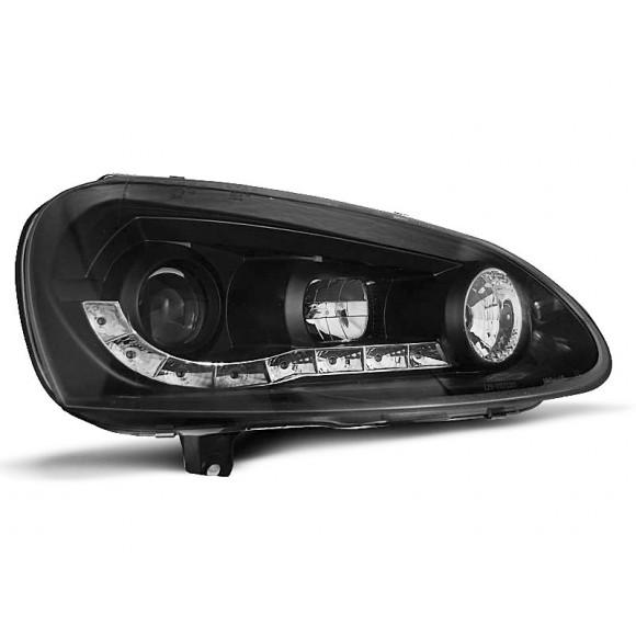 Koplampen met LED verlichting VW GOLF 5 - Zwart | KLVW990