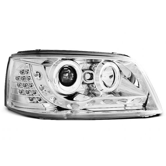 Koplampen met LED verlichting VW T5 - Chroom | KLVWA70