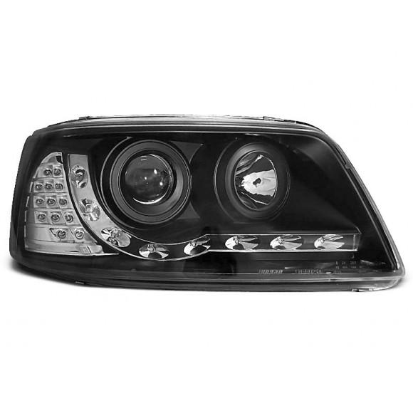 Koplampen met LED verlichting VW T5 - Zwart | KLVWA80