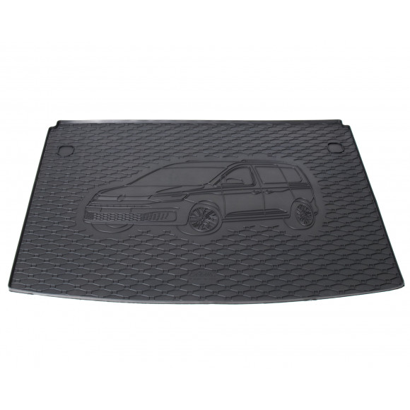 Rubber kofferbakmat met opdruk - VW Caddy 5-zits vanaf 2021