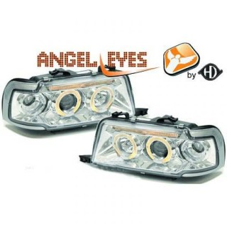Angel eyes koplampen Audi 80 B4 - Chroom
