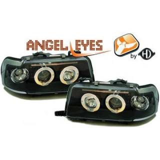 Angel eyes koplampen Audi 80 B4 - Zwart