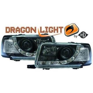 Koplampen met LED verlichting Audi 80 B4 - Zwart
