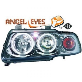 Angel eyes koplampen Audi A4 B5 - Chroom
