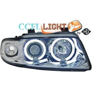 CCFL Angel eyes koplampen Audi A4 B5 - Chroom