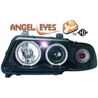 Angel eyes koplampen Audi A4 B5 - Zwart