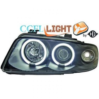 CCFL Angel eyes koplampen Audi A4 B5 - Zwart
