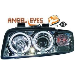 Angel eyes koplampen Audi A4 B6 - Chroom
