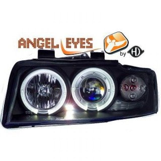 Angel eyes koplampen Audi A4 B6 - Zwart