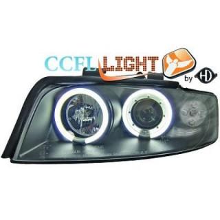 CCFL Angel eyes koplampen Audi A4 B6 - Zwart