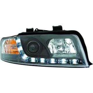 Koplampen met LED verlichting Audi A4 B6 - Zwart