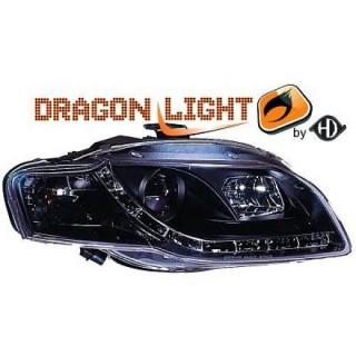 Koplampen met LED verlichting Audi A4 B7 - Zwart