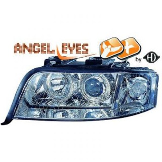 Xenon Angel eyes koplampen Audi A6 C6-C7 - Chroom