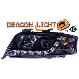 Koplampen met LED verlichting Audi A6 C5 - Zwart