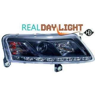 Xenonkoplampen met dagrijverlichting Audi A6 4F - Zwart