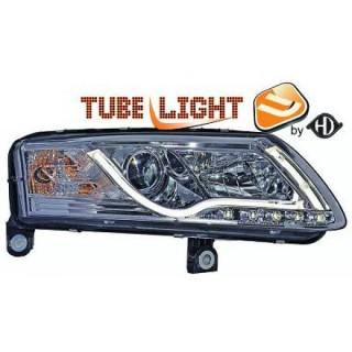 Xenonkoplampen met dagrijverlichting Audi A6 4F - Chroom