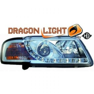 Koplampen met LED verlichting Audi A3 8L - Chroom