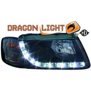 Koplampen met LED verlichting Audi A3 8L - Zwart