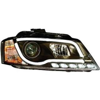 Koplampen met Dagrijverlichting Audi A3 8P - Zwart