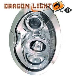 Koplampen met LED verlichting Mini - Chroom