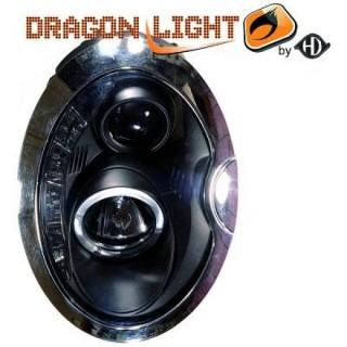 Koplampen met LED verlichting Mini - Zwart