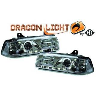 Koplampen met LED verlichting BMW 3-serie E36 - Chroom