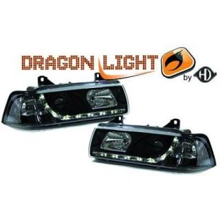 Koplampen met LED verlichting BMW 3-serie E36 - Zwart