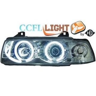 CCFL Angel eyes koplampen BMW 3-serie E36 Sedan/Touring - Chroom