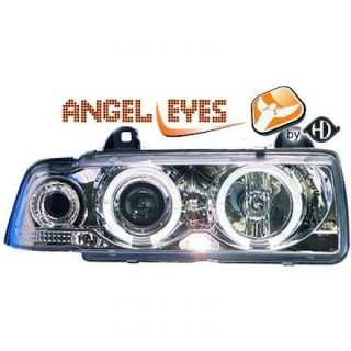 Angel eyes koplampen BMW 3-serie E36 Sedan/Touring - Chroom
